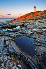 Pemaquid Point Sunrise (chris lazzery) Tags: lighthouse sunrise bristol maine pemaquidpoint canonef1740mmf4l singhraygoldnbluepolarizer 5dmarkii bw30nd