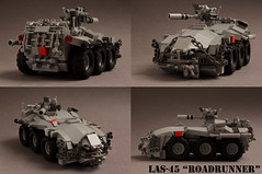 "LAS-45 ""Roadrunner"" (Blockaderunner) Tags: las war republic lego military scout 45 future vehicle armour roadrunner reconnaissance"