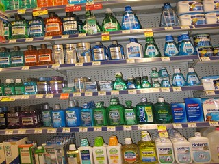 Wall of Mouthwash