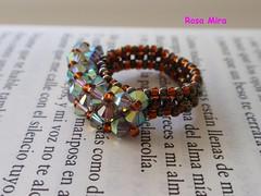 Poema nº 15 (Espuma de mar by Rosa Mira) Tags: seed jewelry ring bead cristal beaded jewel anillo bague anell joya delica seedbead austriaco abalorio