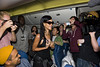 Rihanna partying with her fans aboard flight 777 from Los Angeles to Mexico City USA