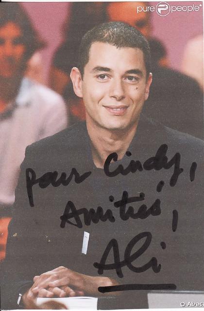 Autographe Ali Baddou