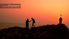 Love And God (~ rohit) Tags: sunset red sea sun india cute love beach water rock fun