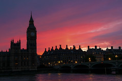 Palace of Westminster - Twilight (bvi4092) Tags: city bridge sunset urban building london clock water westminster silhouette thames architecture photoshop river twilight nikon cityscape dusk capital parliament bigben palace nikkor riverthames thamesriver palaceofwestminster capitalcity d300s 18105mmf3556 nikon18105mmf3556