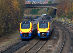 222009 and 222005 Chesterfield (SilsonRoadrunner) Tags: chesterfield 222009 222005