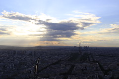 Sunset over Eiffel Tower