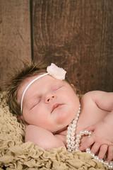 Baby Ella (ArtCPhotos) Tags: sleeping baby girl pearls newborn asleep 2weeksold