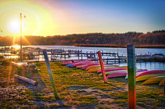 Fish Creek Marina Sunset (Samantha Decker) Tags: sunset ny newyork photoshop canon eos f14 saratoga sigma upstate adobe postprocess hdr highdynamicrange fishcreek 30mm cs6 sdny topazadjust samanthadecker
