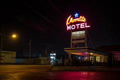 Untitled (Photofidelity) Tags: nightphotography color night project lights niagarafalls boulevard motel meghanherald olympusomdem5