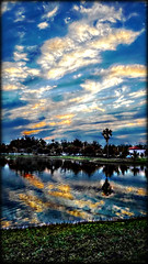 The Best Things in Life Can Be Free (Chris C. Crowley) Tags: park sunset sky lake reflection water clouds palms scenic chriscrowley reedcanalpark celticsong22 southdaytonaflorida thebestthingsinlifecanbefree