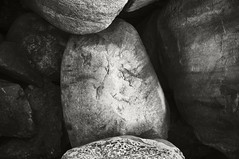 Pile of Rock (frntprchprss) Tags: light blackandwhite texture dark rocks patterns quarry blackwhitephotos jamesgehrt