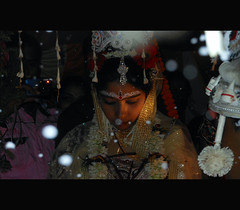 the indian bride (Animesh2000) Tags: ocean road blue light sunset red sea orange cloud india flower macro reflection art home nature floral beautiful leaves night photography mono bride glamour pattern artistic dusk marriage kerala photograph matrimony calicut animesh debnath