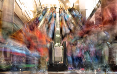 The Honjj (briyen) Tags: china people motion shopping painting movement colorful long exposure crowd dream stroke blurred brush hong kong mecca blend hajj
