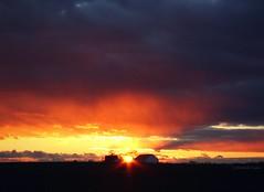 dying day (Jen MacNeill) Tags: november sunset sky sun clouds barn landscape evening sundown pennsylvania farm dramatic pa rays lancastercounty nightfall gypsymarestudios jennifermacneilltraylor