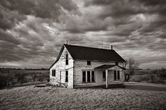Sundial House (Rodney Harvey) Tags: old blackandwhite house farmhouse rural decay missouri infrared quaint