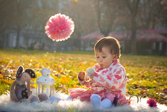 DSC_0586-3 (Simona Ray) Tags: pink autumn light baby sun white flower nature girl toy child outdoor