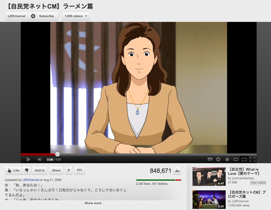 Anime in Japanese Politics