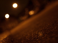 The Lamps Are Lighted (TowardsTheEnd) Tags: road light macro lamp tarmac dark evening post olympus jpg lamps lit posts lighted lampposts epl1