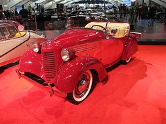 1938 American Bantam roadster (Demetrios Lyras) Tags: usa classiccar 1938 soma sfist 3speed mosconeconventioncenter internationalautoshow sanfranciscocausa 55thannual americanbantamroadster builtinpennsylvania basedonthebritishaustin7 4cylinder20hp