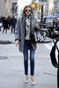 Miranda Kerr getting into a taxi in Manhattan wearing skinny jeans and high heels New York City