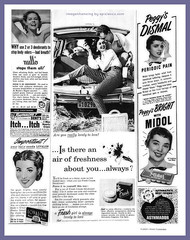 Yes, ladies... it IS all about YOU (epiclectic) Tags: bw 1955 vintage magazine advertising pain feminine ad august fresh retro ephemera advertisement ddd hygiene prescription dents deodorant itch whc midol astma nullo womanshomecompanion epiclectic asthmador lovalon imagenhancingbyepiclecticcom