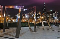 Arches of Chicago (rseidel3) Tags: park chicago art skyline architecture night buildings lights arches