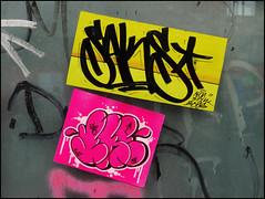 Saks / Zhe155 (Alex Ellison) Tags: urban graffiti sticker bogota tag apc bang saks eastlondon stink aeon zhe155