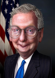 From flickr.com/photos/47422005@N04/8240512904/: Mitch McConnell - Caricature