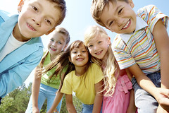 Five happy kids (COEComm) Tags: family blue school friends boy summer sky people cute nature girl face smart childhood smiling horizontal kids youth season children fun outside outdoors happy person team education open looking friendship natural sister brother expression air group lifestyle happiness glad several company together lad casual youthful positive cheerful schoolgirl youngster adolescent elementary offspring beginner schoolboy caucasian preschooler schoolkid