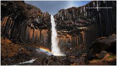 The Colour Black (Dylan Toh) Tags: black photography waterfall nationalpark rainbow columns geology basalt skaftafell svartifoss everlook iceland2009