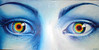 See the rainbow in your eyes oil on canvas painting - Curcubeul din privire pictura ulei pe panza