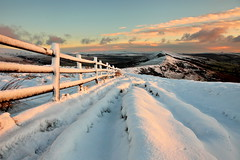 Mam Tor Sunrise (matrobinsonphoto) Tags: winter light sunset sun mountain snow ice sunrise district hill peak ridge tor lose mam