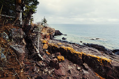 Lutsen, MN (Garret Voight) Tags: lake nature water minnesota rock forest landscape moss midwest great north lakes superior lutsen