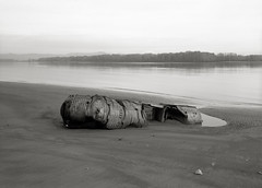 Boat, Columbia River, Oregon (austin granger) Tags: film metal oregon boat washington decay evolution shipwreck columbiariver worm flotsam creature mountsthelens artifact ribbed largeformat humans sauvieisland spermwhale deardorff austingranger