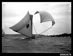 18 footer sailing near Watsons Bay, Sydney Harbour