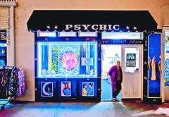 'I went to the fortune teller...' (lostinangeles) Tags: beach ball reading crystal palm read newport future psychic tamronsp2470mmf28divcusd apsychic