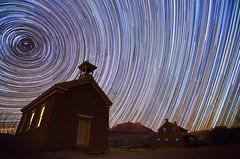 Starry Skies (Bill Ratcliffe) Tags: longexposure stars star utah zion southernutah startrails grafton startrail butchcassidy graftonutah d7000 billratcliffe
