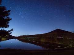 Geminid over Sharp Top - Explored (Michael Kline) Tags: stars december tokina blueridgeparkway 2012 sharptop meteorshower