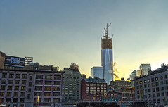 Freedom Tower - H (Wallace Flores) Tags: street nyc sunset buildings nikon tribeca newyorkstate hdr lowermanhattan freedomtower d3s