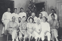William Levison with laboratory staff in Hawaii, Christmas 1943 (Center for Jewish History, NYC) Tags: christmas hawaii christmasparty laboratory christmastrees laboratorystaff williamlevinson
