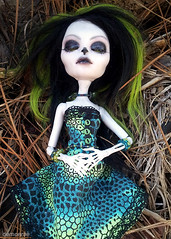 Callie Vera (demonrae) Tags: glass monster skeleton for high eyes ebay dress sale handmade ooak cam like jewelry wig mohair bead create resin custom inset polymer