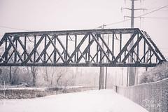 Winter Bridge HDR (Steven Santamour Photography) Tags: christmas railroad winter holiday snow nature wisconsin nikon december glendale outdoor walk milwaukee photowalk paths dslr snowfall hdr milwaukeecounty d3100 santamour