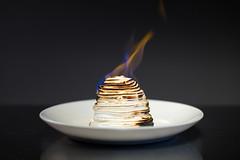 Baked Alaska (birzer) Tags: baked alaska dessert flames studio