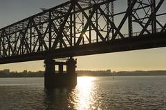 (engine9.ru) Tags: bridge summer sun water sunrise river russia         arkhangelsk
