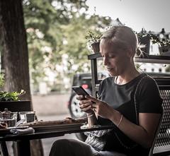 Texting (Henka69) Tags: tex street streetphoto candid stockholm streetcolour
