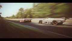 Le Mans (Thomas_982) Tags: gt5 gt6 cars auto mercedes benz jaguar xjr9 sauber c9 le mans sarthe france racing motorsport group c ps3 gran turismo motion panning uk british germany prototype