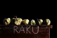 Raku (Studio d'Xavier) Tags: raku tomatillos still life strobist