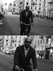 [La Mia Citt][Pedala] (Urca) Tags: milano italia 2016 bicicletta pedalare ciclista ritrattostradale portrait dittico nikondigitale mir bike bicycle biancoenero blackandwhite bn bw 88196
