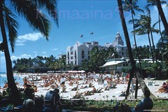 Royal & Outrigger Beach Ewa 1956 (Kamaaina56) Tags: 1950s waikiki hawaii beach royalhawaiian outriggerclub slide