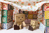 Today is a blanket fort and chocolate kind of day. (Arielle.Nadel) Tags: danbo danboard yotsuba minidanbo chocolate cute canon5dmarkiii revoltech blanketfort